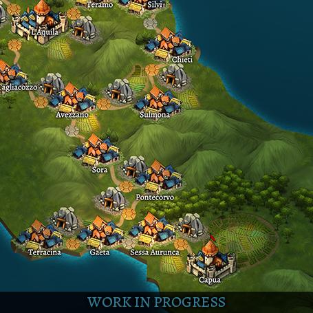 carte des royaumes renaissants Roadmap of Return to the Kingdoms